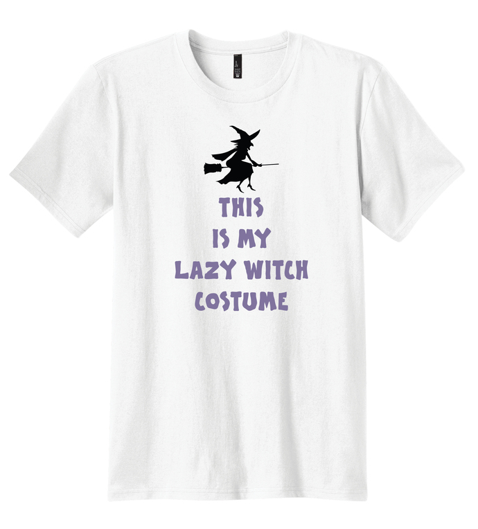 Men's This Is My Lazy Witch Costume, Halloween T-Shirt