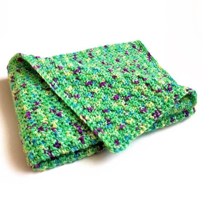 Crochet Baby Blanket, Green