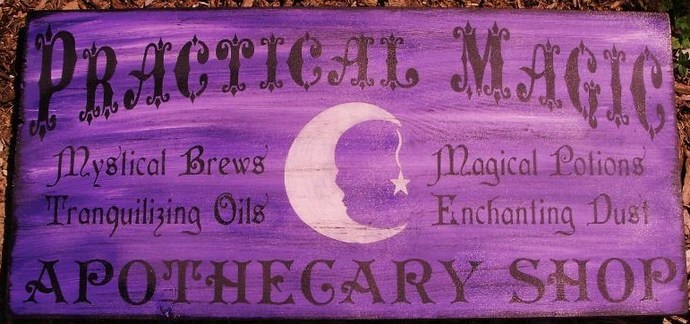 primitive witch signs Witchcraft Practical magic apothecary shop witches