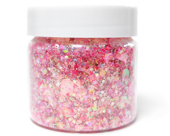 La Vie En Rose - Loose Chunky Pink Metallic and Iridescent Glitter Mix