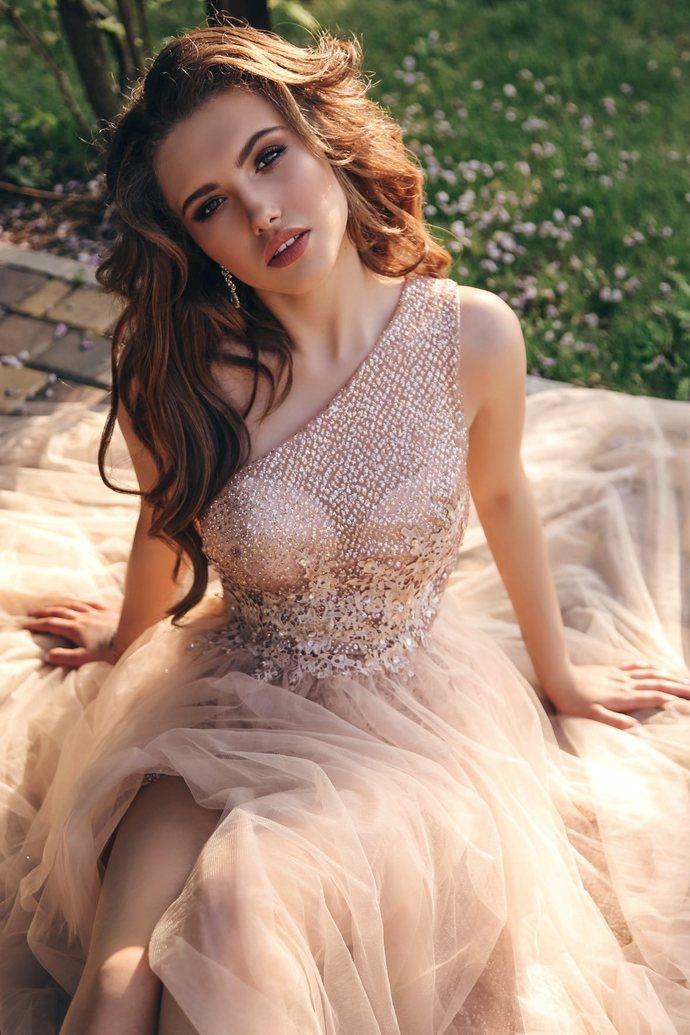 New Prom Dresses Bridesmaid Dress, Sleeveless Prom Dress, V-Neck Bridesmaid