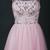 Pink Beaded Short Homecoming Dress, Tulle Pink Party Dress, Graduation Dress