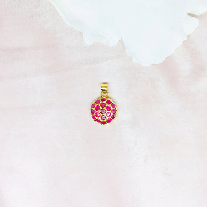 Ruby Vermeil 14K Gold Over Sterling Silver Pendant