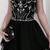 Black Beaded Short Homecoming Dress, Black Graduation Party Dress