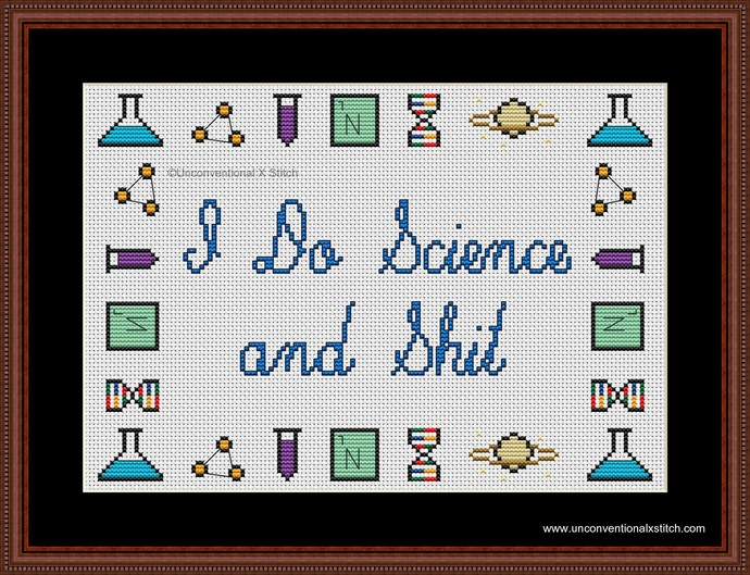 I Do Science and Shit cross stitch pattern