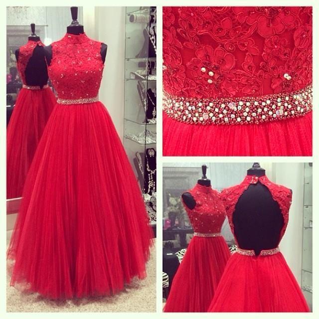 Tulle Prom Dresses, Long Prom Dresses, Cheap Prom Dresses