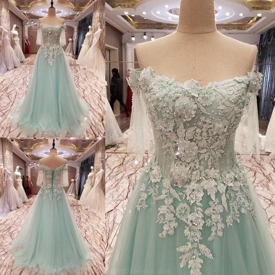 Prom Dresses White, Lace Prom Dresses, 2018 Prom Dresses, White Lace Prom