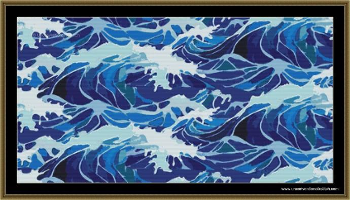 Lost at Sea cross cross stitch pattern
