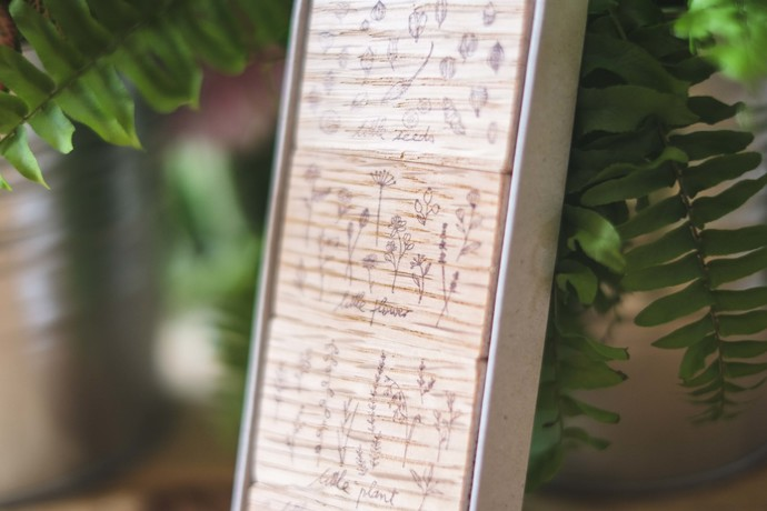 Kurukynki wooden stamp set - Petite No. 1 - perfect for journaling & happy mail