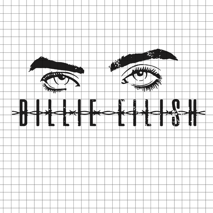 Billie Eilish Eyes Distressed, Billie Eilish Eyes svg, Billie Eilish svg,