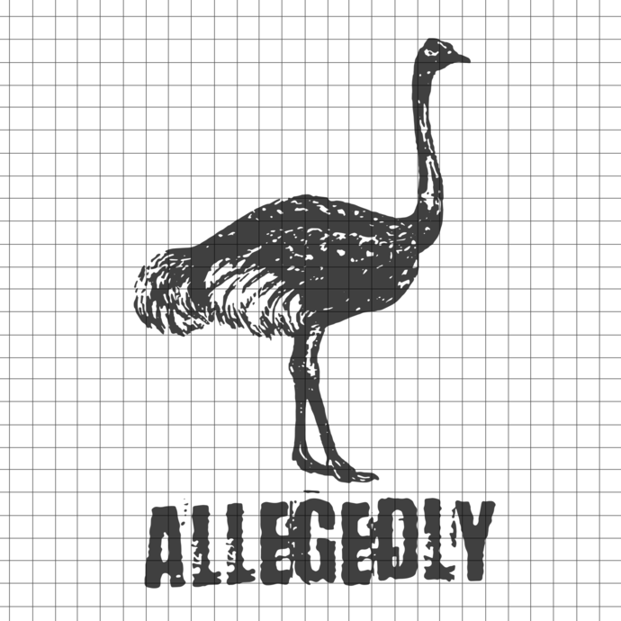 Allegedly Ostrich svg, Vintage Canadian Humor svg, Emu Ostrich svg, Allegedly