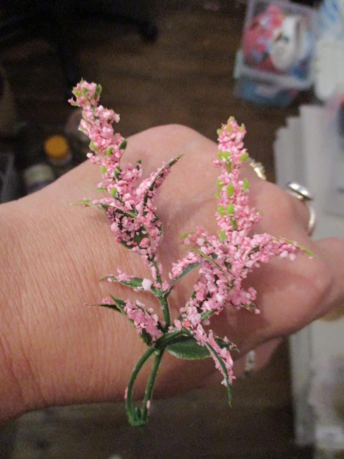 Double Stem Flower Head for Miniature Plant Pots