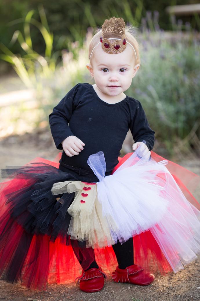 Queen of Hearts High Low Tutu - Halloween Tutu - Kids Tutu - Halloween Costume