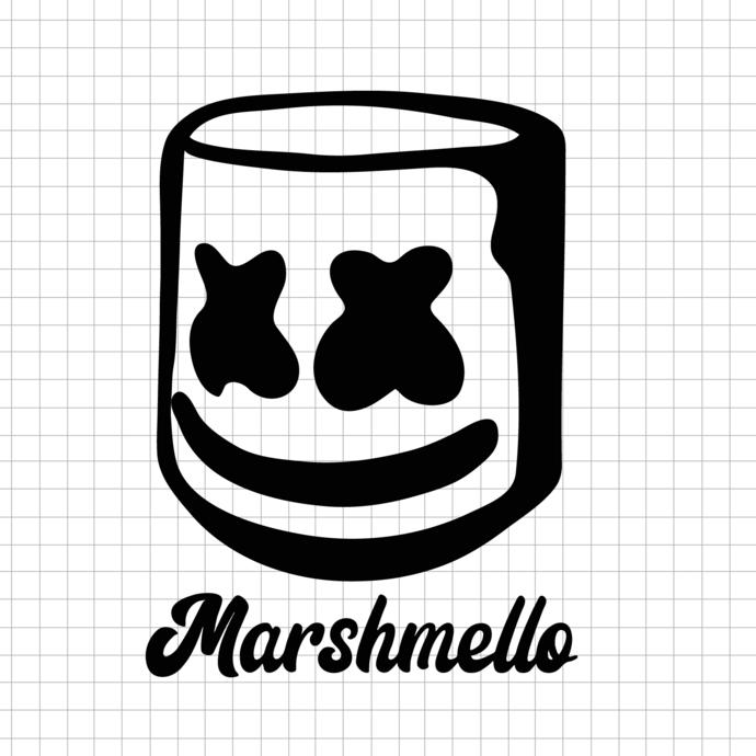 Dab DJ Marshmello ERDI Svg, Dxf, Eps,vector files for Cricut, Silhouette