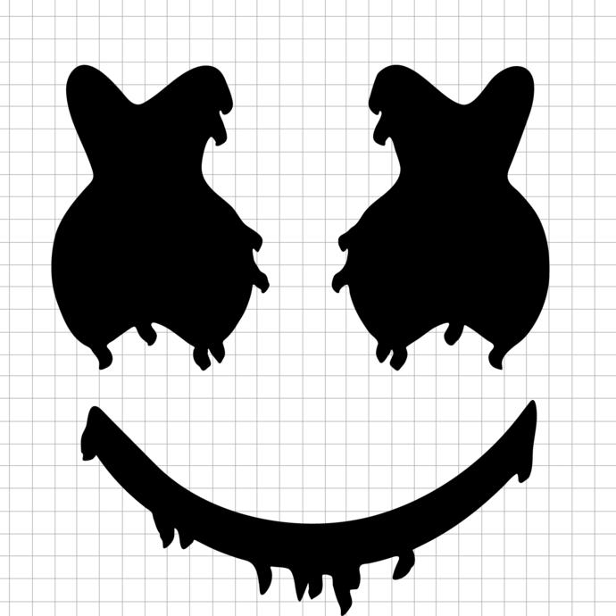 Dab DJ svg, Marshmello ERDI Svg,Happy Marshmallows S'more svg,Marshmallows svg,