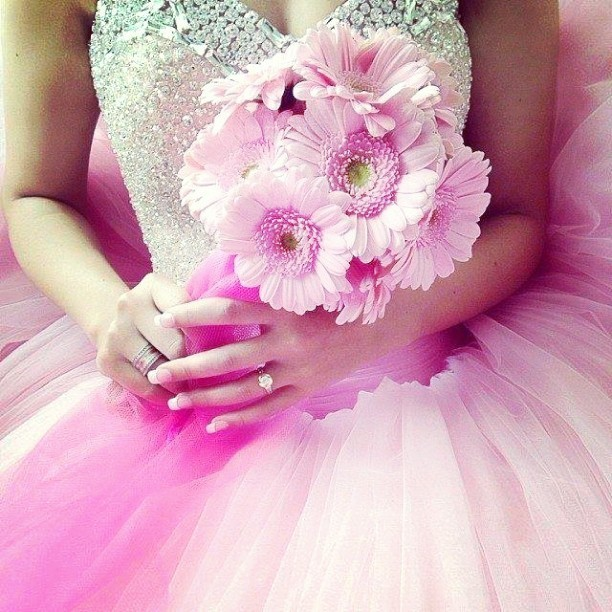 Pink Wedding Dresses,Ball Gowns Quinceanera Dresses Sweet 16 dresses,Bridal