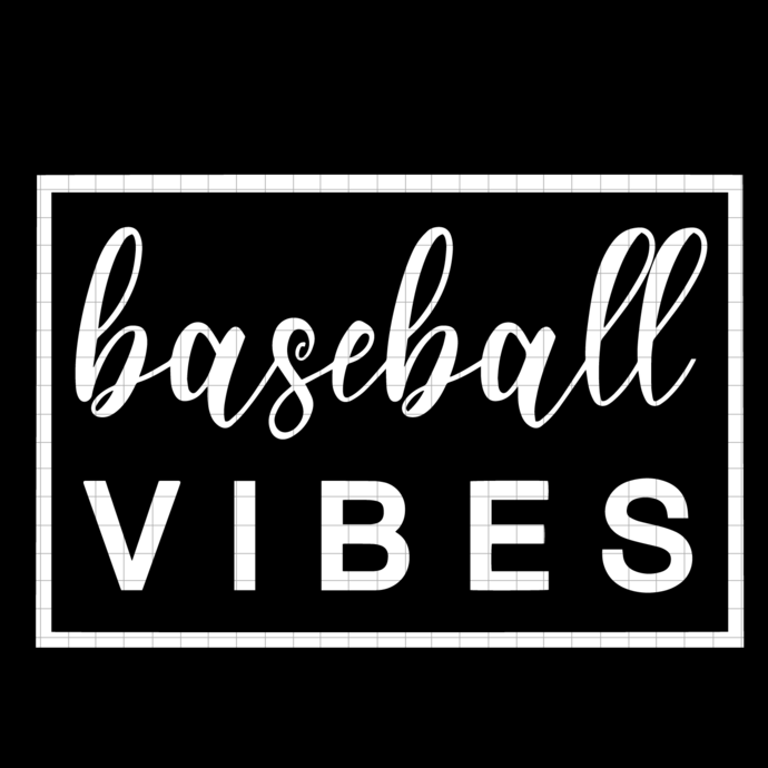 Baseball Vibes SVG, png, dxf, vector file for cricut