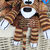 Hand Knitted Child's Brown Random Dog Scarf - FREE SHIPPING