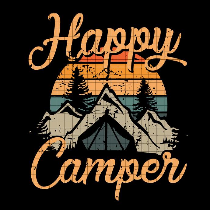 Happy Camper svg, Camping Svg, Adventure svg, Bear svg, png, dxf, vector file