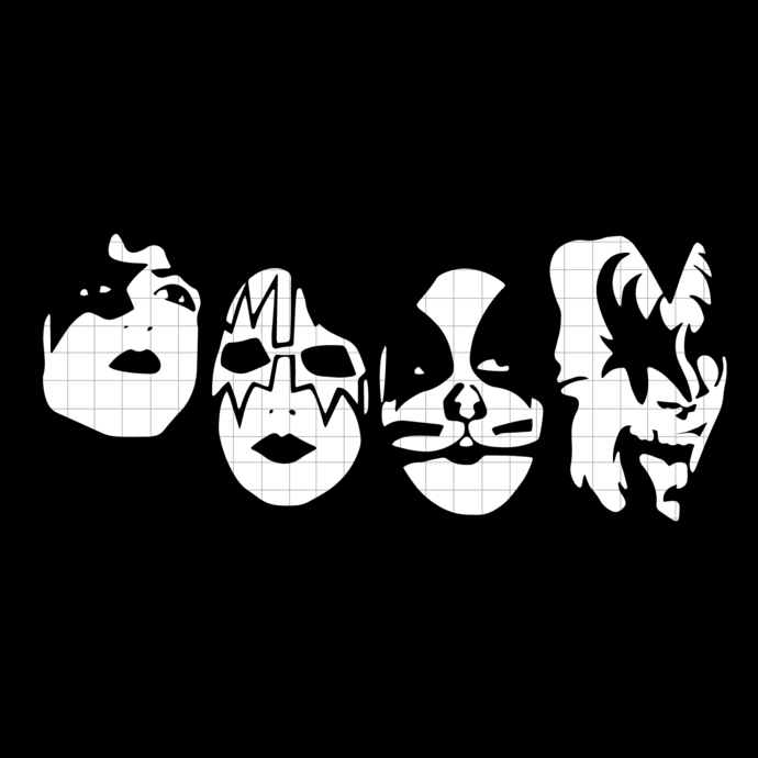 Rock Band Kiss svg, png dxf svg files for Cricut and Silhouette