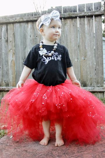 Red Sparkle High Low Tutu - Flower Girl Tutu - Kids Tutu - Birthday Tutu