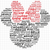 Disney Minnie Word Art SVG, png dxf svg files for Cricut and Silhouette, Disney