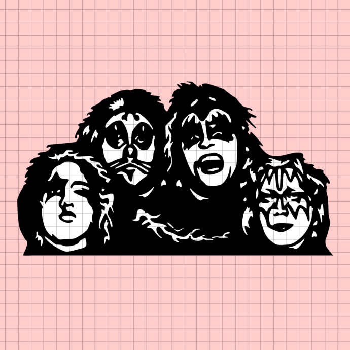 Kiss rock band music, Rock Band Kiss svg, png dxf svg files for Cricut and