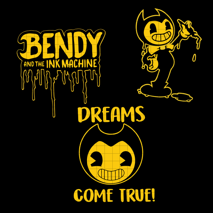 Bendy and the Ink Machine logo inspired Digital download, Bendy and the Ink