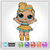 LOL Doll SVG - 24K Gold / Instant Download / Digital Clipart / Cutting Files /