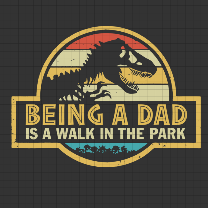 Mens Being A Dad Is A Walk In The Park svg, Dad Retro Sunset svg, Vintage