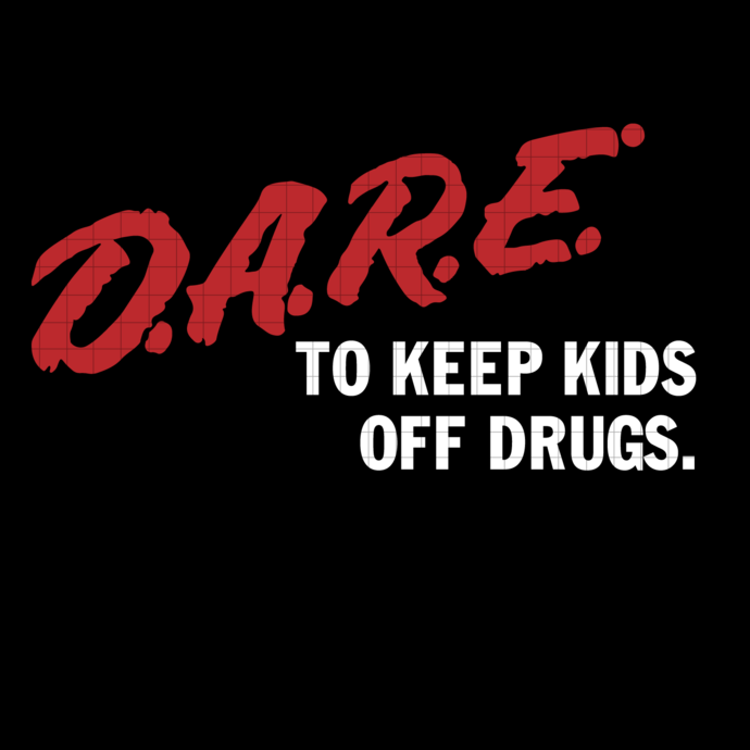 DARE Vintage Svg With The 80s or 90s clothing retro Instant classic. Dare