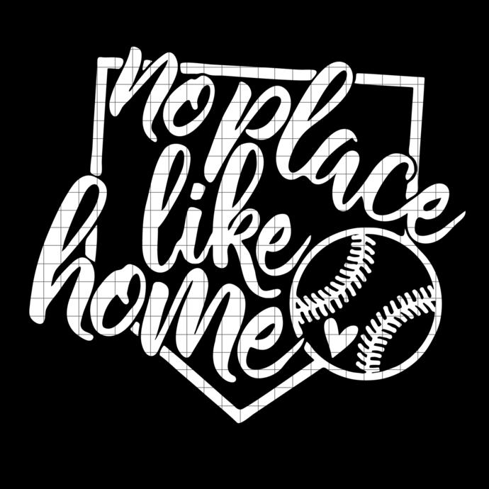 Baseball svg, baseball mom, No place like home, baseball svg, svg file, baseball