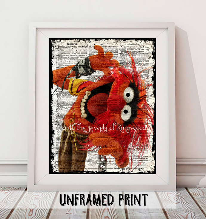 Animal Dictionary Page Art Print - Electric Mayhem Band Fan Art