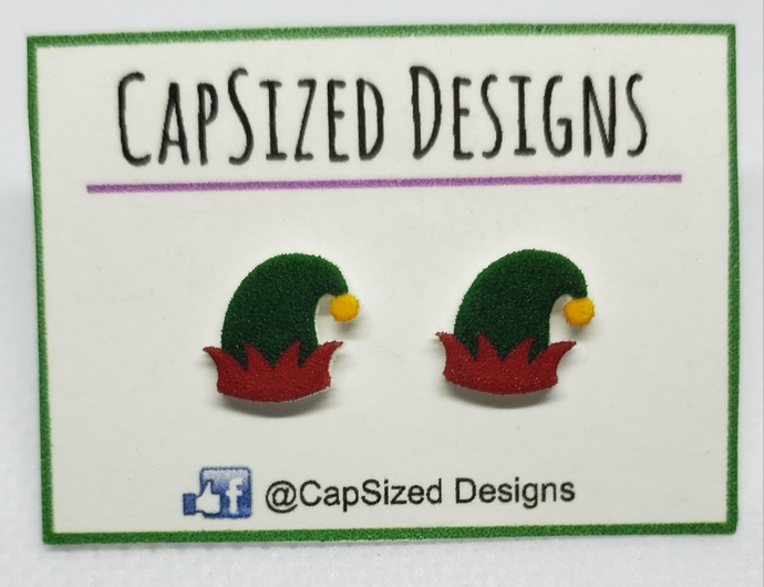 Elf Hat Novelty Stud Earrings