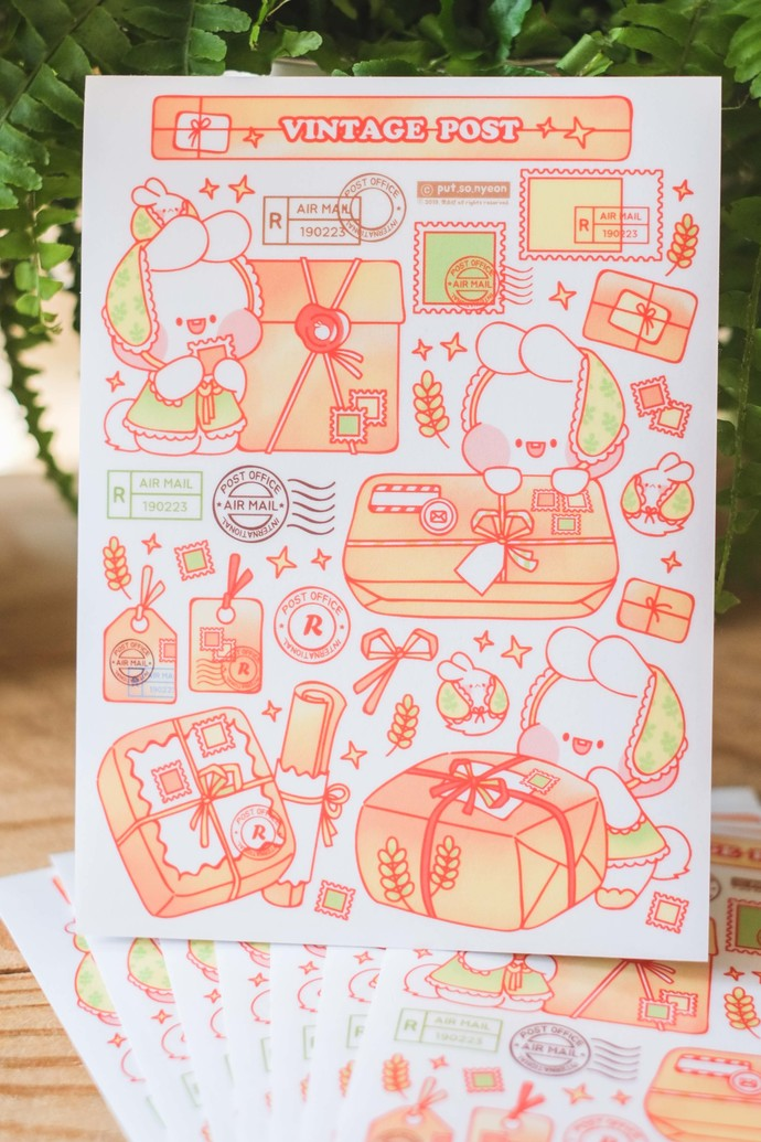 Put So Nyeon cute sticker sheets - Happy Mail