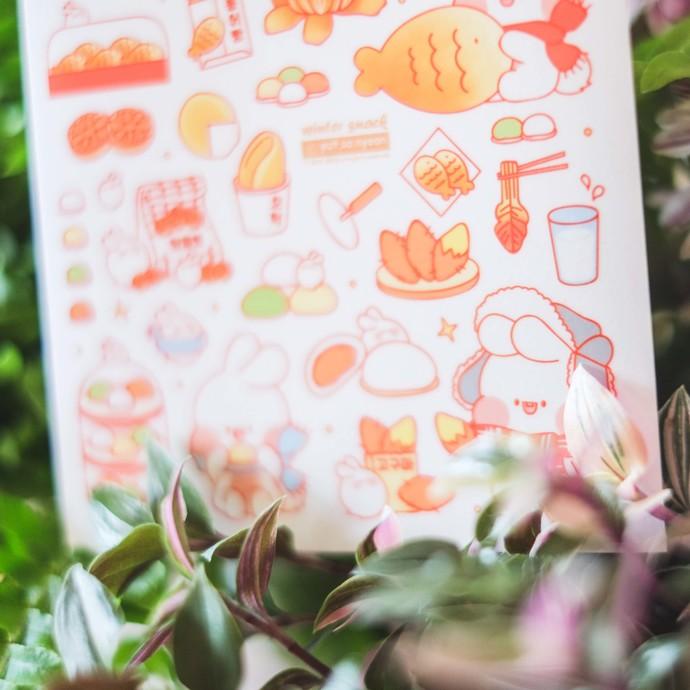 Put So Nyeon cute sticker sheets - Mizzi Winter Snack