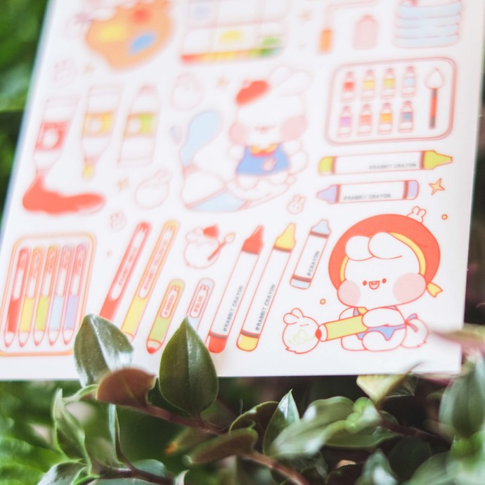 Put So Nyeon cute sticker sheets - Mizzi Art Class