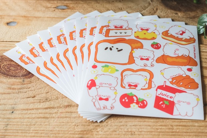 Cotton Danchoo sticker sheets - Danchoo Bread