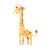 Giraffe with Flowers - Kameelperd - Safari Animals Series - Wall Decal - Great