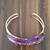 Gemstone bracelet, Agate precious stone, purple gold tone, handmade bracelet,
