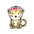 Leopard with Flowers - Luiperd - Safari Animals Series - Wall Decal - Great For