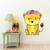 Lioness with Flowers - Leeuwyfie - Safari Animals Series - Wall Decal - Great