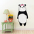 Panda with Flowers - Da Xiong Mao - Safari Animals Series - Wall Decal - Great