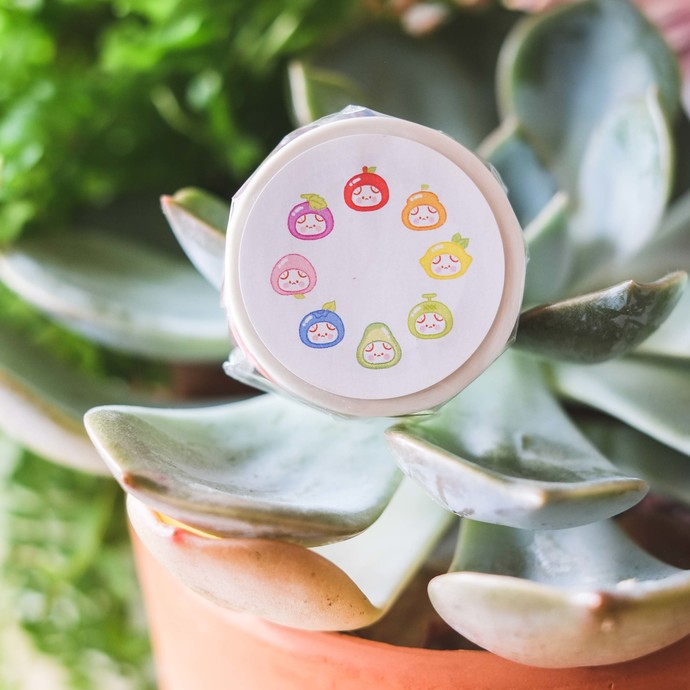 Cotton Danchoo cute washi tape - Strawberry - 1.5cm wide tape 10m long