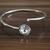 Bracelet Swarovski crystals Cuff, gemstones bracelets, crystal clear color,