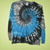 Gray, Black, and Blue Tie Dye Youth XL T-Shirt