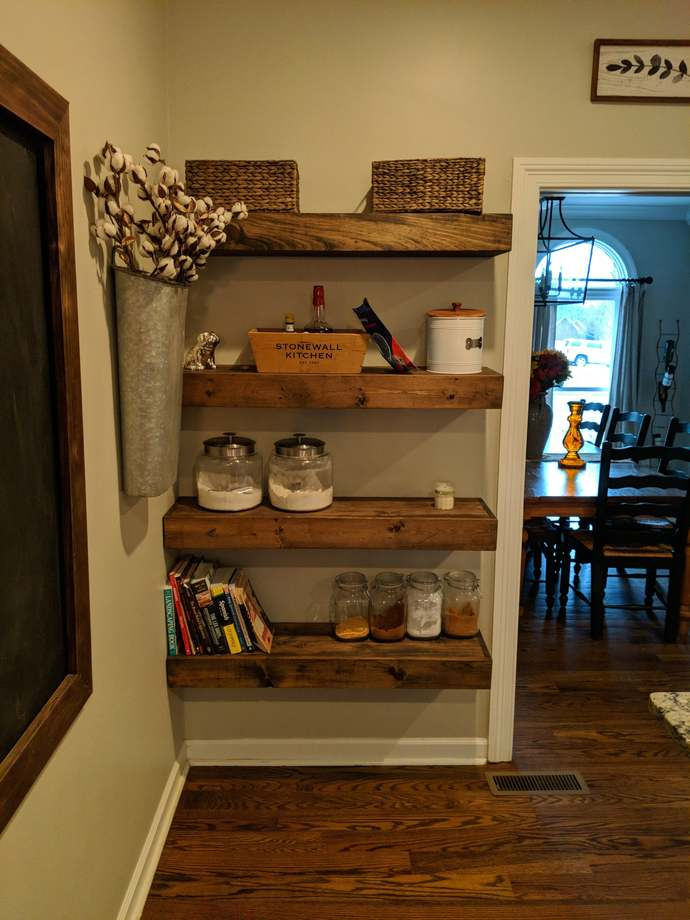 FREE SHIPPING*** Wood Floating Shelves 10 inch deep | Rustic Shelf | Farmhouse
