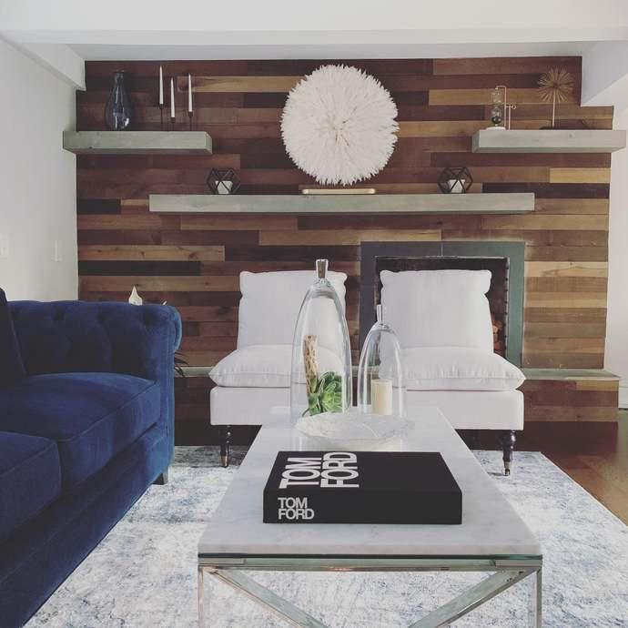 Wood Floating Shelves 8-inches Deep   Rustic Shelf   Farmhouse Shelf   Reclaimed