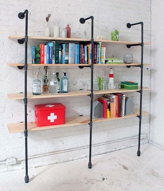 Modern Pipe Shelves | Industrial Shelving | Modern Shelving | Pipe Shelving |