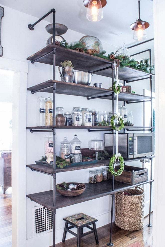 Industrial Pipe Shelving Unit | Industrial Shelves | Rustic Shelf | Pipe